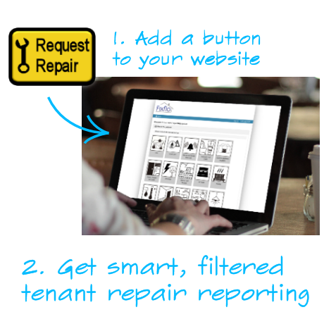 Fixflo: Add a button to your website, get smart, filtered, tenant repair reporting